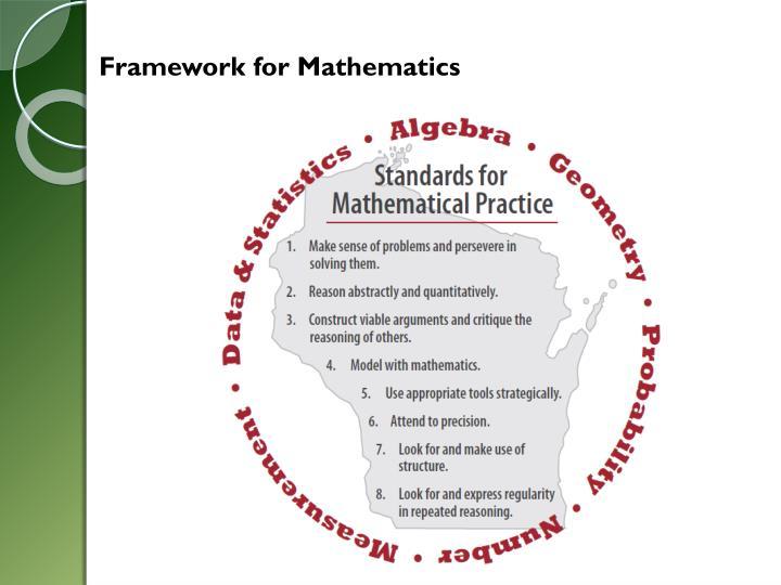 Framework for Mathematics