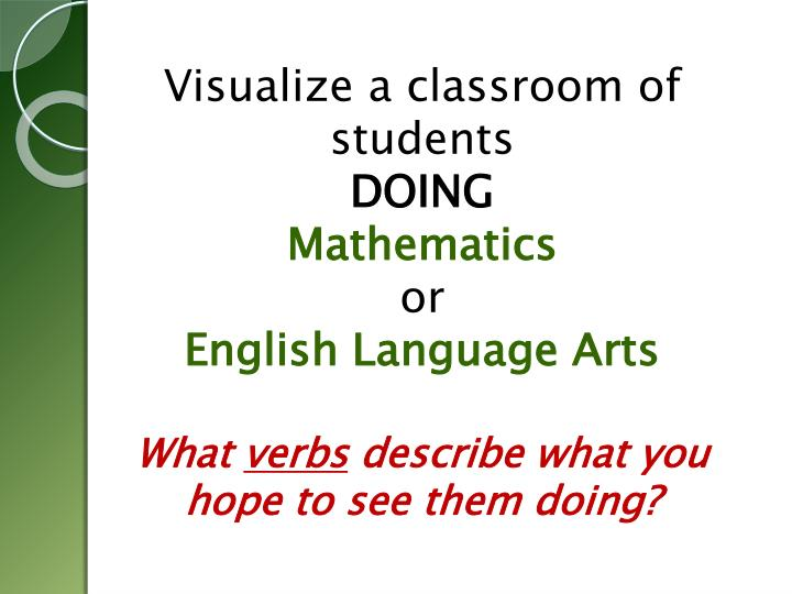 Visualize a classroom of students
