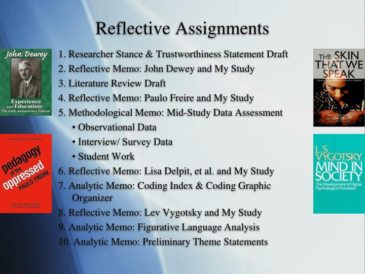 Reflective Assignments