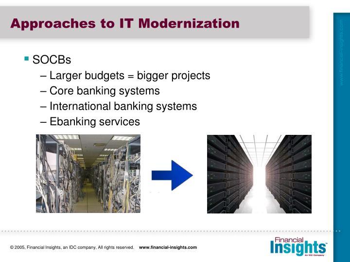 Approaches to IT Modernization