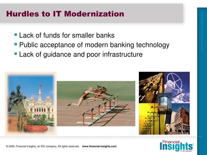 Hurdles to IT Modernization