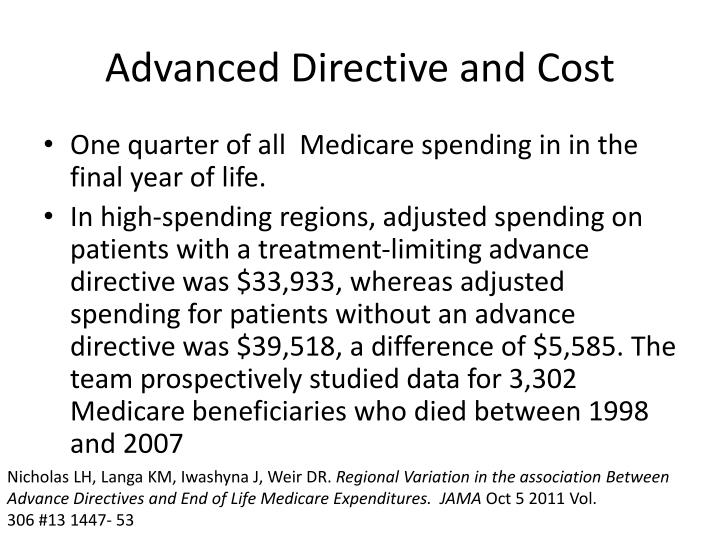 Advanced Directive and Cost