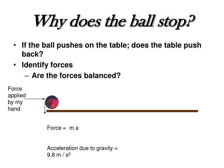 Why does the ball stop?