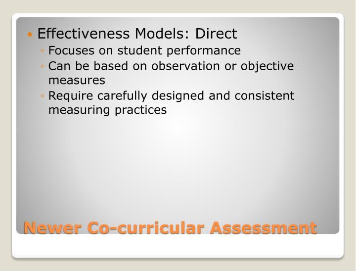 Effectiveness Models: Direct
