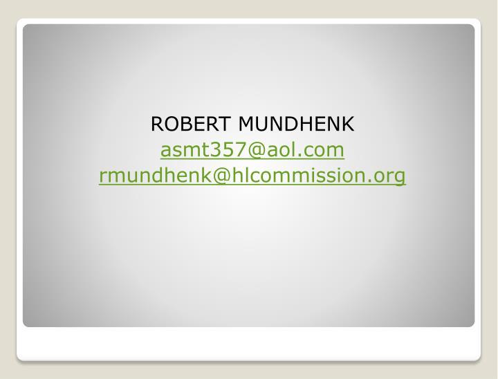 ROBERT MUNDHENK