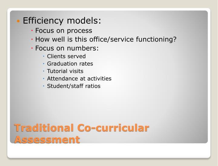 Efficiency models: