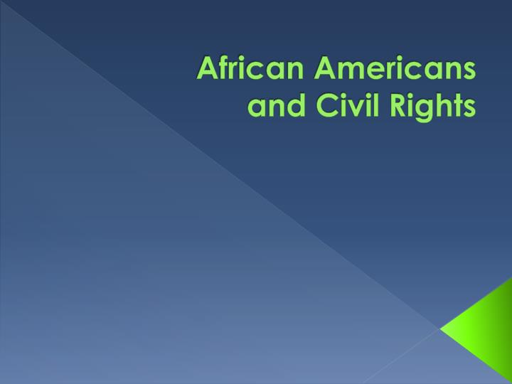 african americans and civil rights n.
