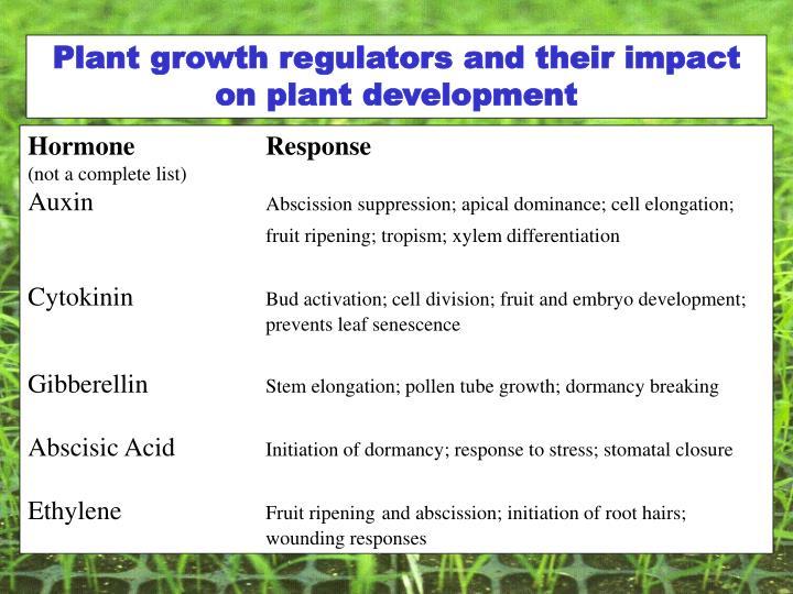 Plant growth regulators and their impact on plant development