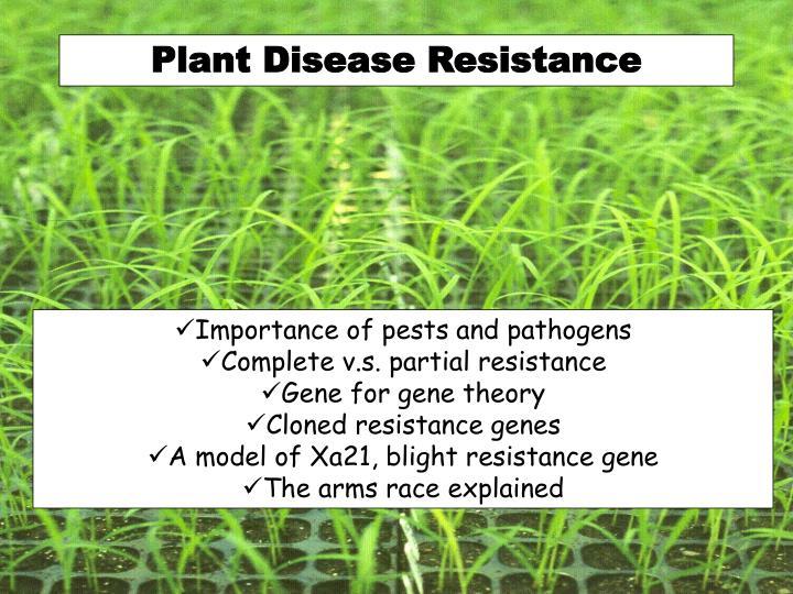 Plant Disease Resistance
