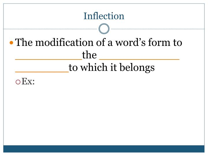 Inflection