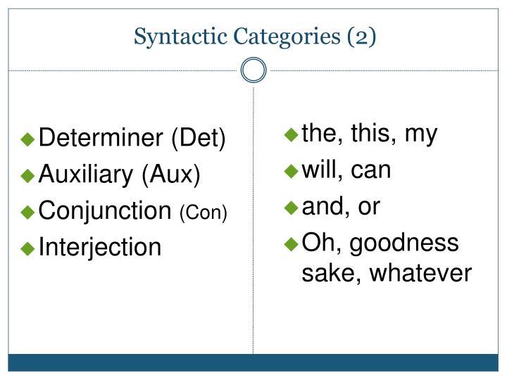 Determiner (Det)