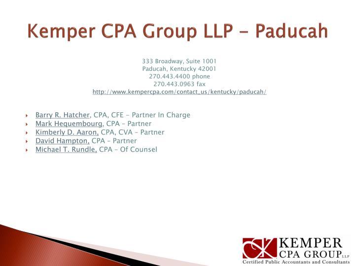 Kemper CPA Group LLP - Paducah