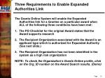 three requirements to enable expanded authorities link