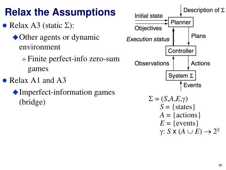 Relax the Assumptions