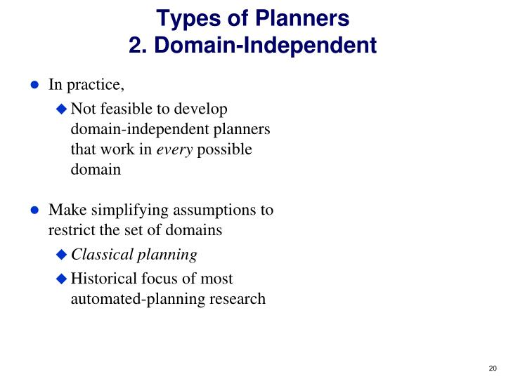 Types of Planners