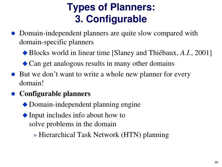 Types of Planners: