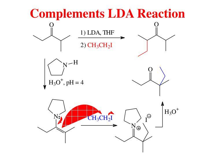 Complements LDA Reaction