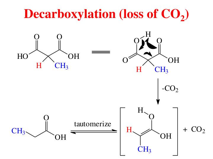 Decarboxylation (loss of CO