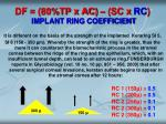 df 80 tp x ac sc x rc implant ring coefficient