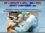 df 80 tp x ac sc x rc safety coefficient m