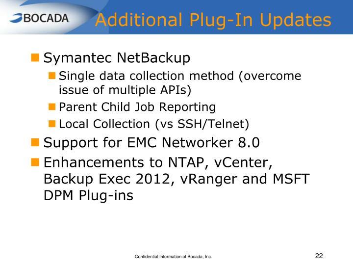 Additional Plug-In Updates