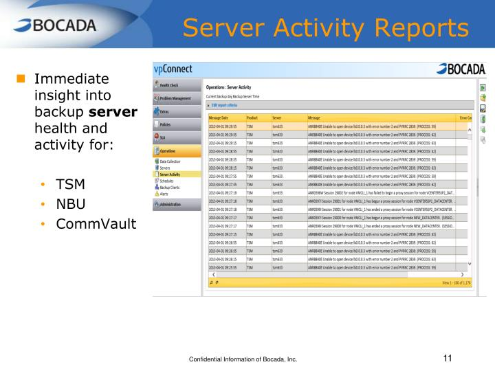 Server Activity Reports