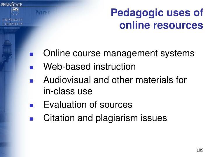 Pedagogic uses of