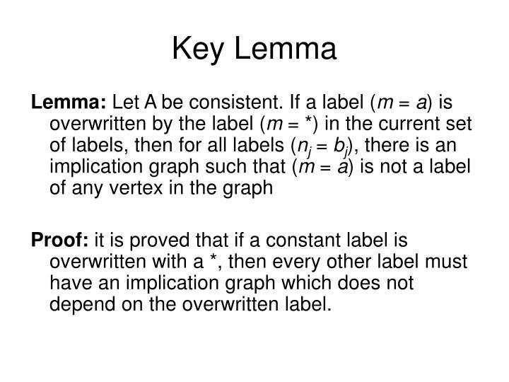 Key Lemma