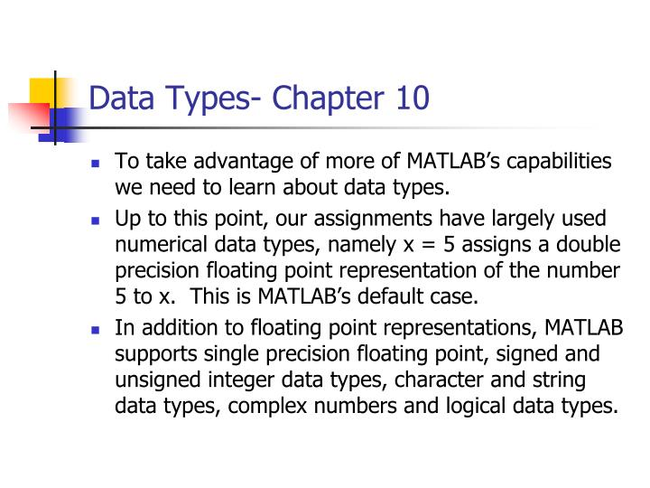 Data types chapter 10
