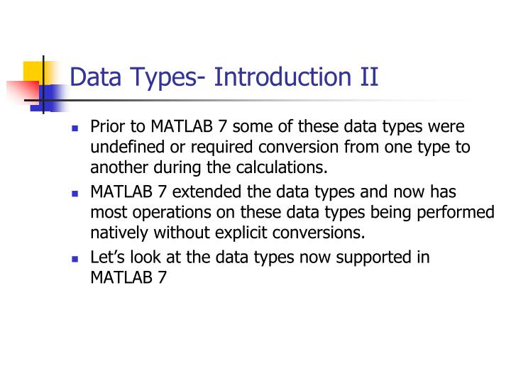 Data types introduction ii