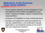 objectives of the everyone goes home initiative1