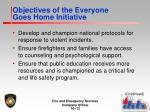 objectives of the everyone goes home initiative4