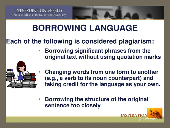 BORROWING LANGUAGE