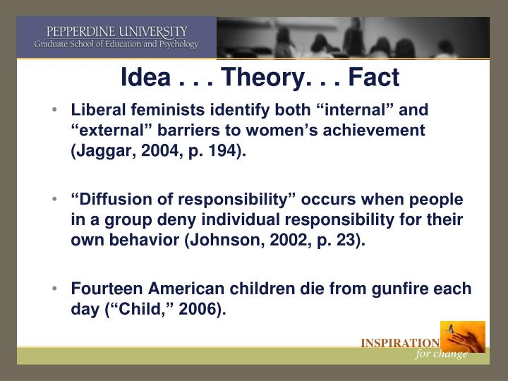 Idea . . . Theory. . . Fact