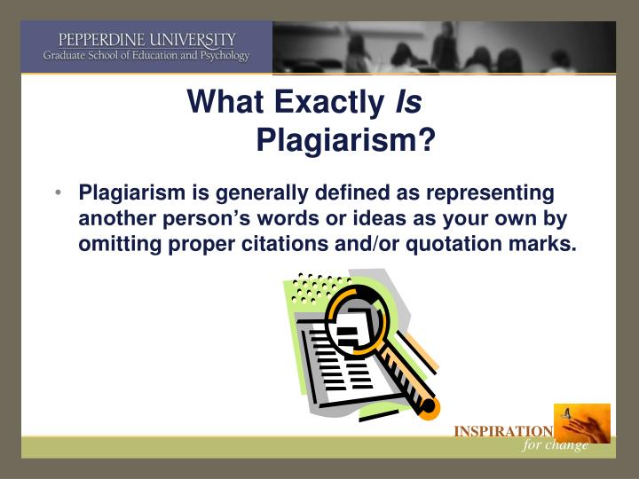 What exactly is plagiarism