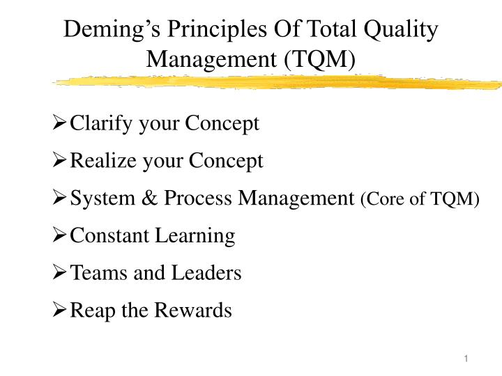 deming s principles of total quality management tqm n.