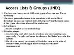 access lists groups unix