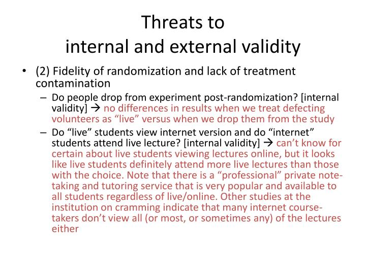 Threats to