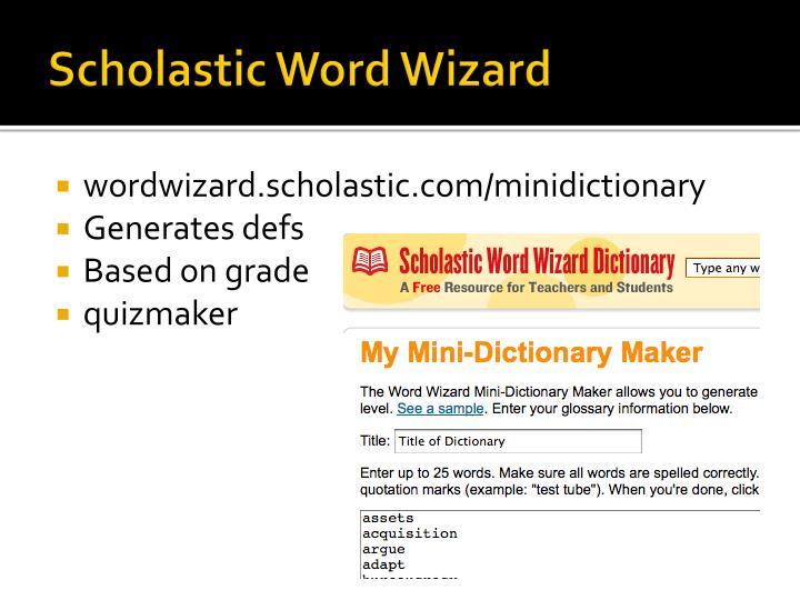 Scholastic Word Wizard