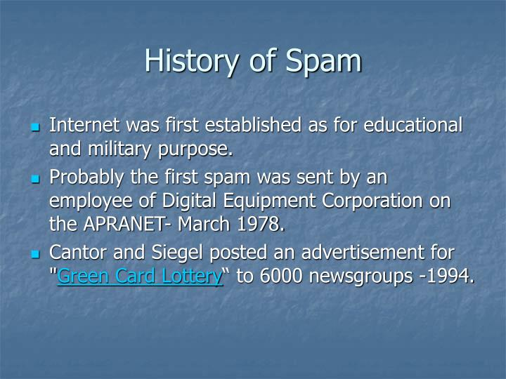 History of Spam