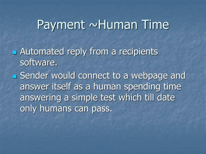 Payment ~Human Time
