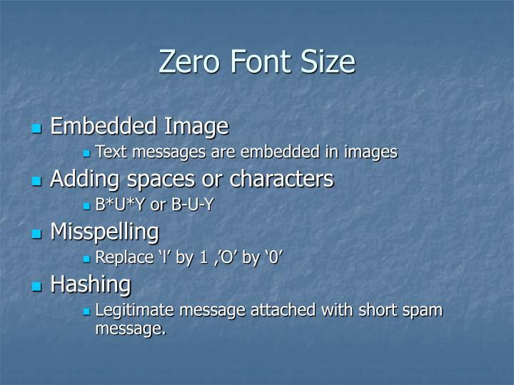Zero Font Size