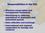 responsibilities in the eez