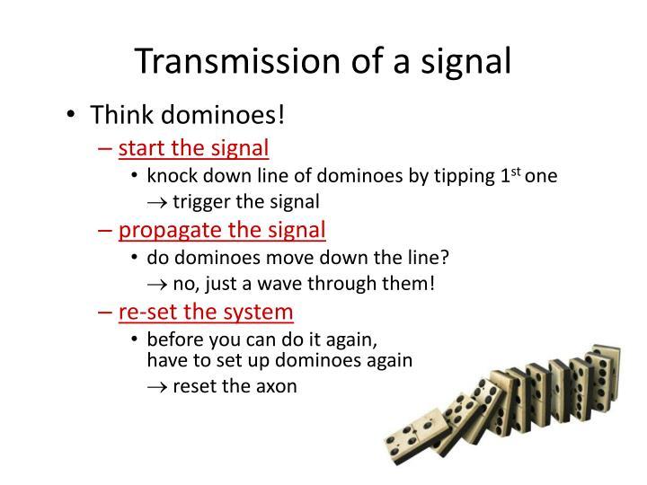 Transmission of a signal