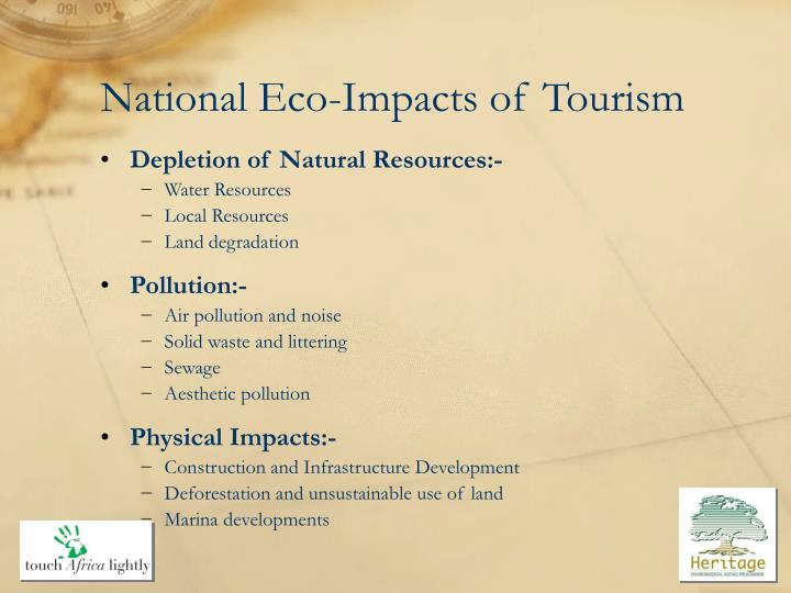 National Eco-Impacts of Tourism