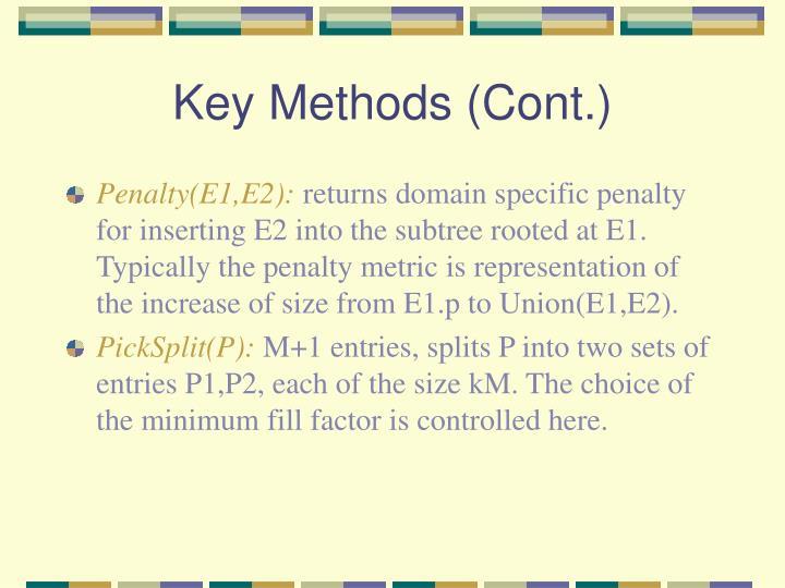 Key Methods (Cont.)