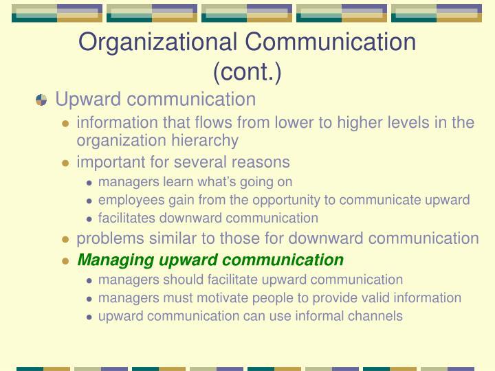 upward communication problems