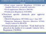 current regulation of nanotechnology in food1