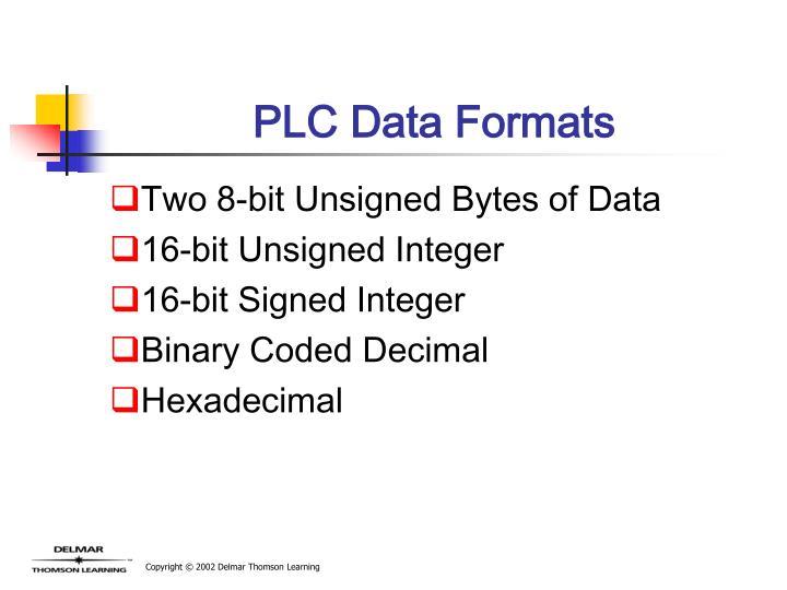 PLC Data Formats