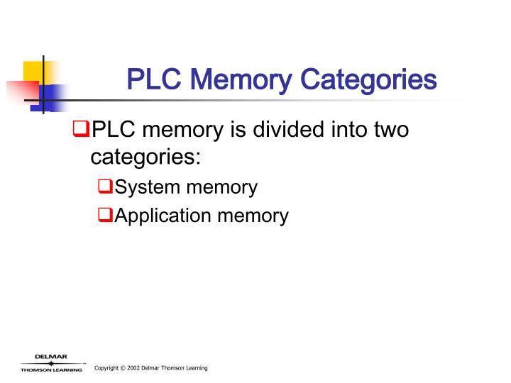 PLC Memory Categories